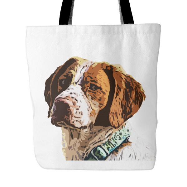 Brittany Spaniel Dog Tote Bags - Brittany Spaniel Bags - TeeAmazing - 1