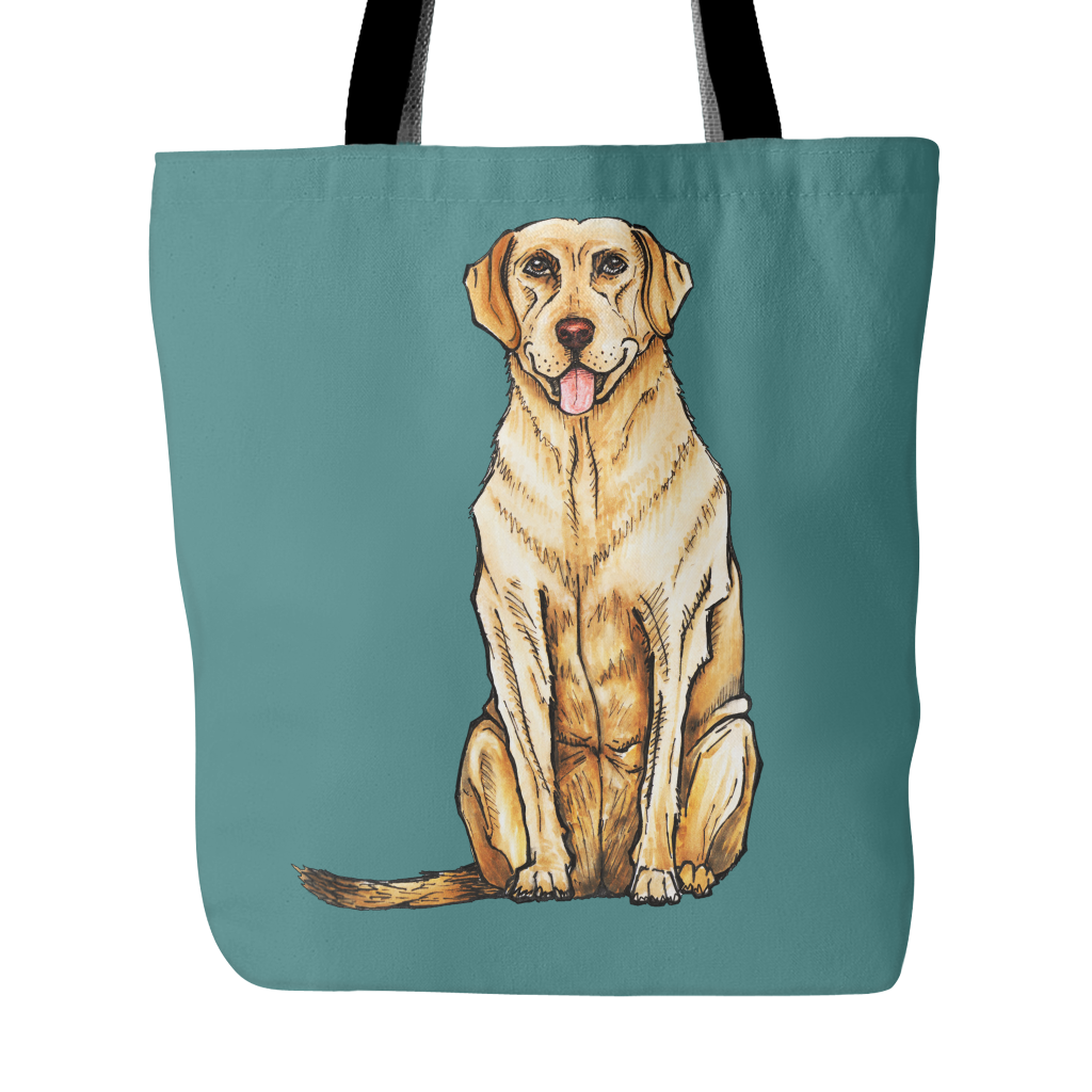 Drawing Labrador Retriever Dog Tote Bags - Labrador Retriever Bags - TeeAmazing