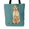 Drawing Labrador Retriever Dog Tote Bags - Labrador Retriever Bags - TeeAmazing - 2