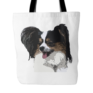 Papillon Dog Tote Bags - Papillon Bags - TeeAmazing