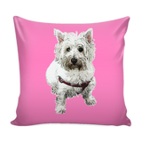 West Highland White Terrier Dog Pillow Cover - West Highland White Terrier Accessories - TeeAmazing