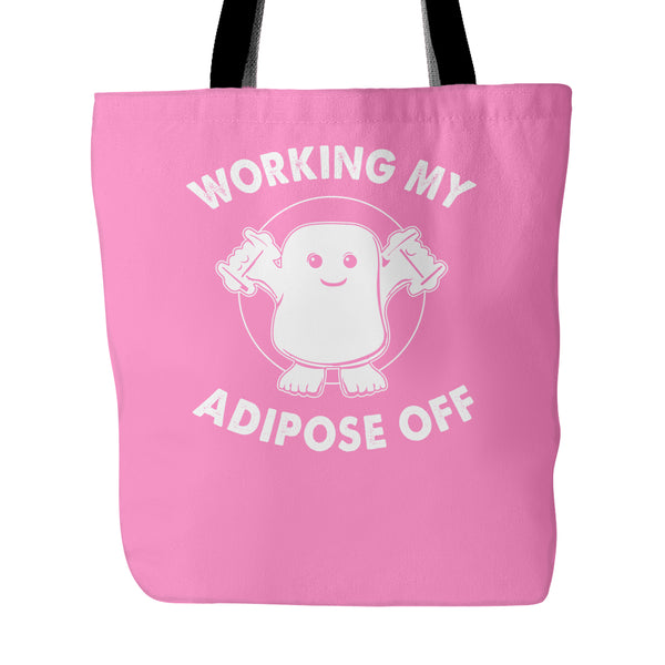 Working My Adipose Off Tote Bags - Doctor Who Bags - TeeAmazing - 4