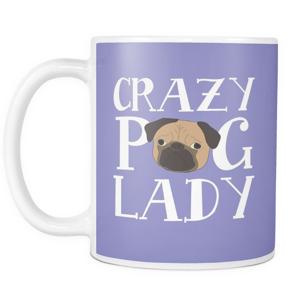Crazy Pug Lady Dog Mugs & Coffee Cups - Pug Coffee Mugs - TeeAmazing