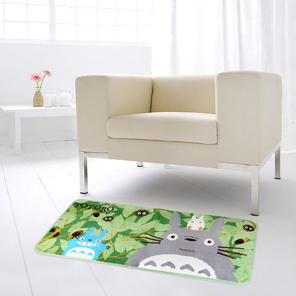 Super Soft Coral Fleece Cartoon Totoro Floor rugs and carpets Area Anti-slip Mat  for living room bed room home decorative - TeeAmazing - 3