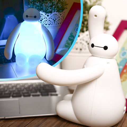 USB Power Baymax Big Hero 6 LED RGB Multicolor Colorful Color Chaning Night Light Home Desk Decoration Gift - TeeAmazing