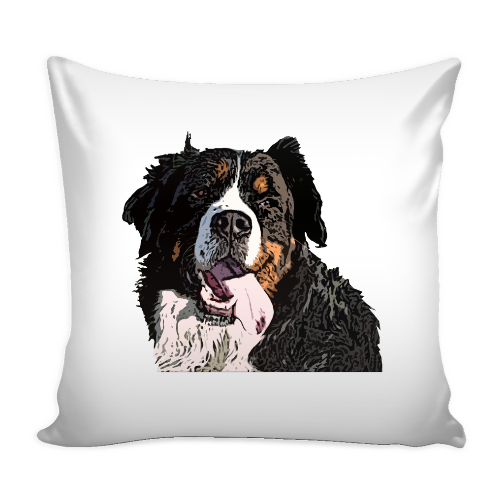 Bernese Mountain Dog Pillow Cover - Bernese Mountain Accessories - TeeAmazing