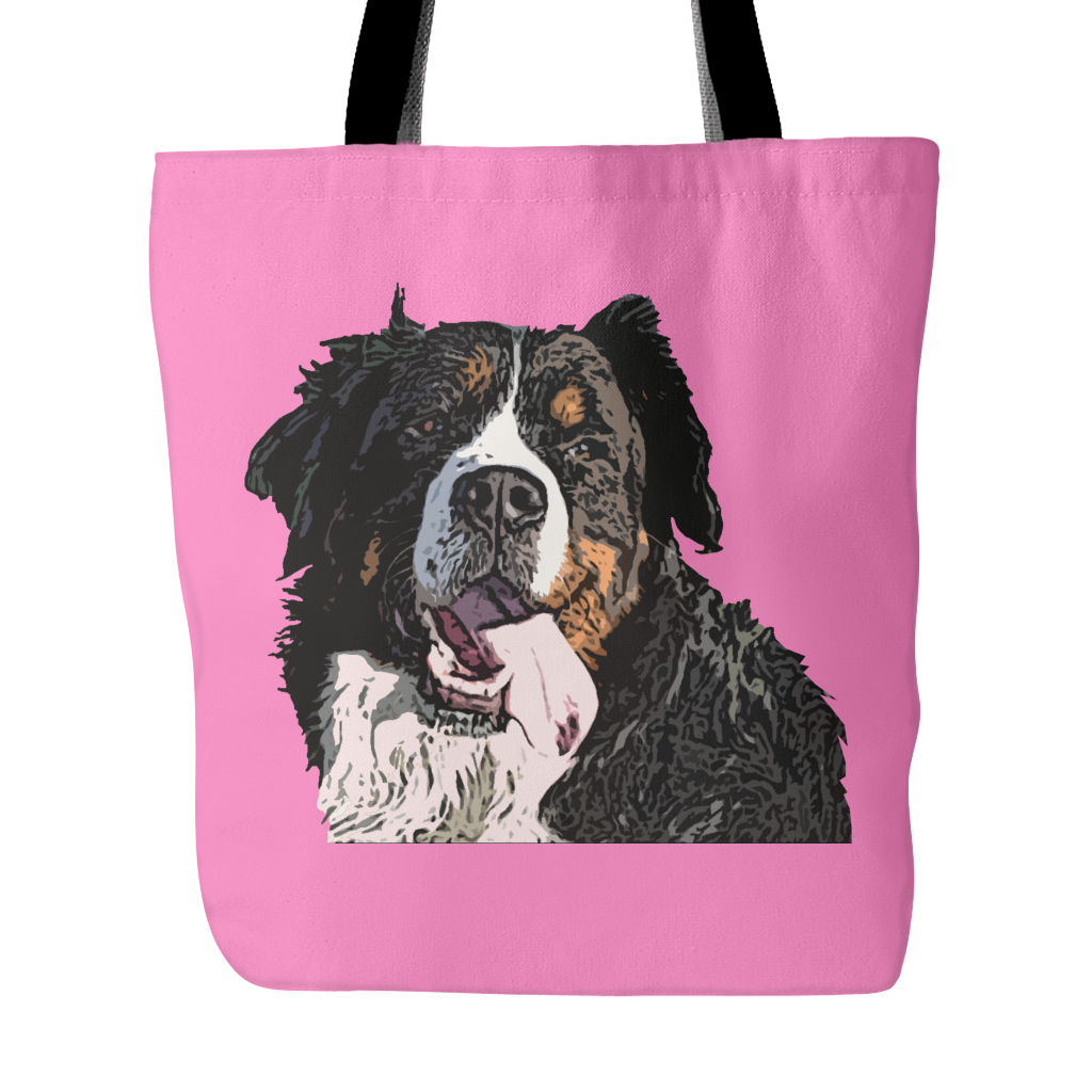 Bernese Mountain Dog Tote Bags - Bernese Mountain Bags - TeeAmazing