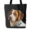 Brittany Spaniel Dog Tote Bags - Brittany Spaniel Bags - TeeAmazing - 2