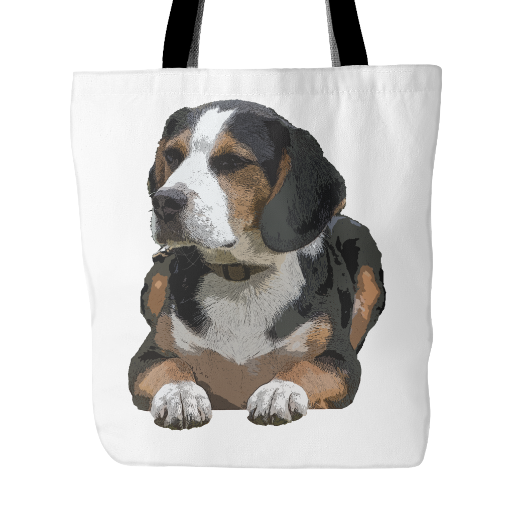 Painting Beagle Dog Tote Bags - Beagle Bags - TeeAmazing