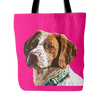 Brittany Spaniel Dog Tote Bags - Brittany Spaniel Bags - TeeAmazing - 4