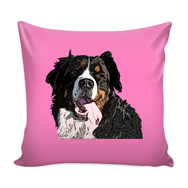 Bernese Mountain Dog Pillow Cover - Bernese Mountain Accessories - TeeAmazing - 4
