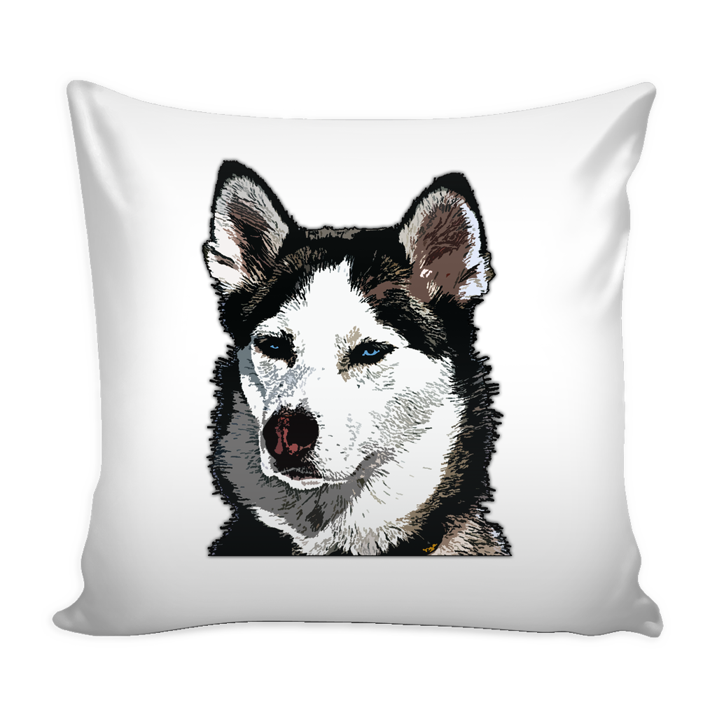 Siberian Husky Dog Pillow Cover - Siberian Husky Accessories - TeeAmazing