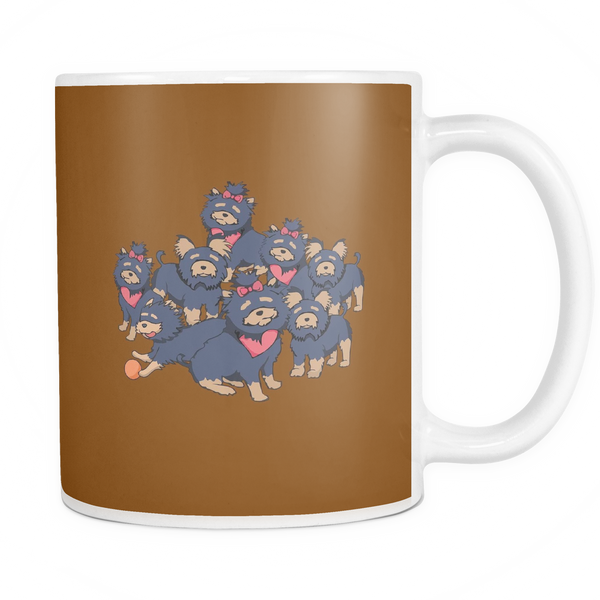 Pattern Yorkshire Terrier Dog Mugs & Coffee Cups - Yorkshire Terrier Coffee Mugs - TeeAmazing - 5