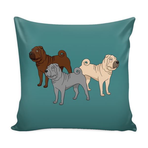 Shar Pei Dog Pillow Cover - Shar Pei Accessories - TeeAmazing - 3