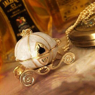 Sweet Pumpkin Carriage Necklace Cinderella Fairy Tale God-Mother Magic Alloy Chains Exquisite Pendants Necklace - TeeAmazing