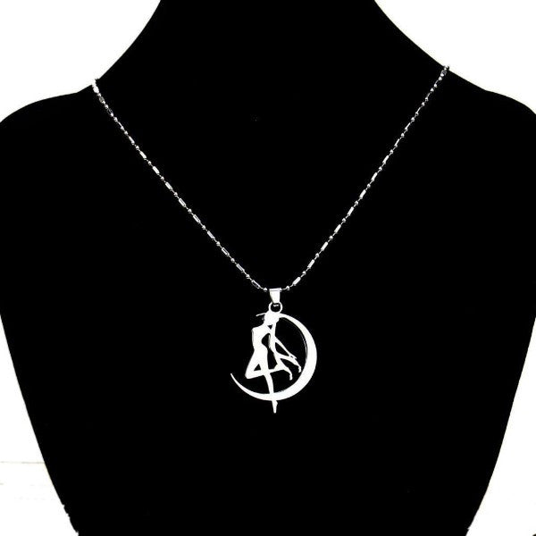 Cosplay Anime Sailor Moon Tsukino Usagi Necklace Metal Pendant Chain Kawaii Gift - TeeAmazing