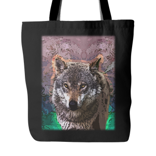 Wolf Tote Bags - Wolf Bags - TeeAmazing