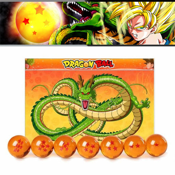 Dragon Ball Z 1-7 Star Medium Size 1pcs Crystal Dragon Ball Rubber Material - TeeAmazing - 1