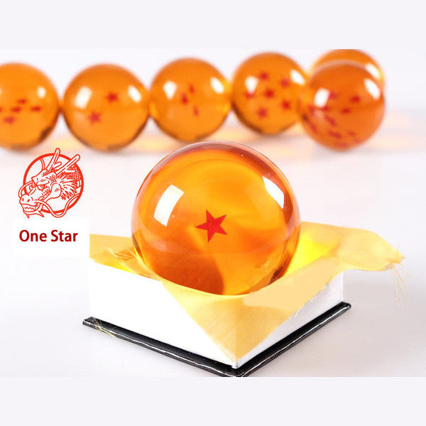 Dragon Ball Z 1-7 Star Medium Size 1pcs Crystal Dragon Ball Rubber Material 95860-one-star