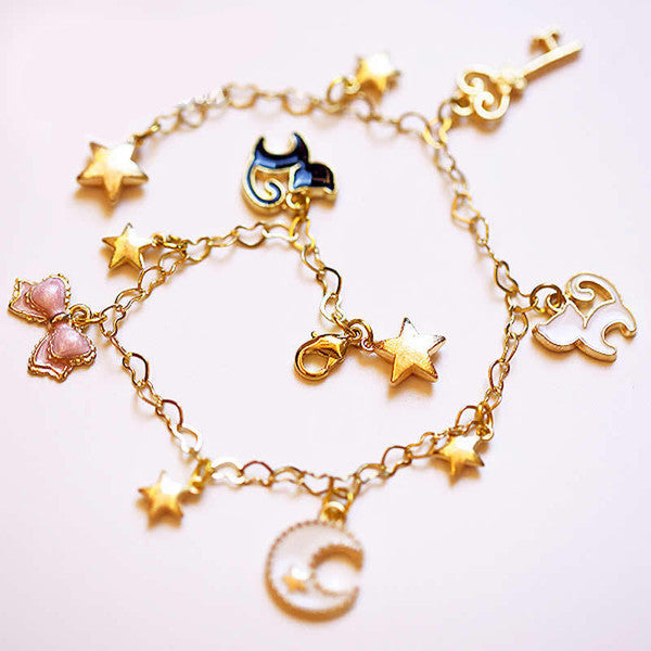 Sweet Cosplay Sailor Moon Tsukino Usagi luna cat Chain bracelet Hand catenary - TeeAmazing