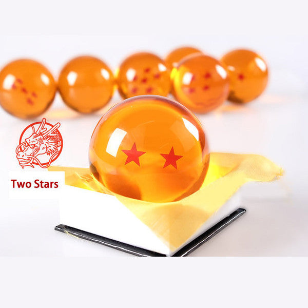 Dragon Ball Z 1-7 Star Medium Size 1pcs Crystal Dragon Ball Rubber Material 95860-two-star