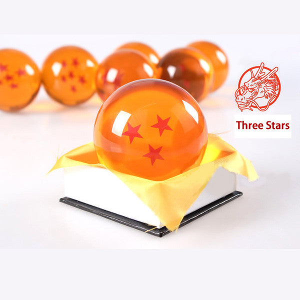 Dragon Ball Z 1-7 Star Medium Size 1pcs Crystal Dragon Ball Rubber Material - TeeAmazing - 5