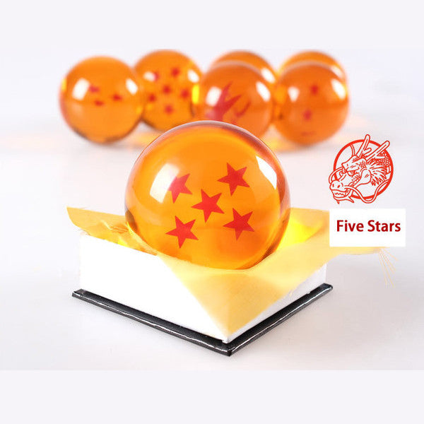 Dragon Ball Z 1-7 Star Medium Size 1pcs Crystal Dragon Ball Rubber Material - TeeAmazing - 7