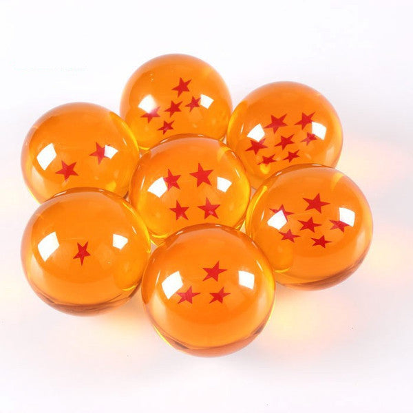 Dragon Ball Z 1-7 Star Medium Size 1pcs Crystal Dragon Ball Rubber Material - TeeAmazing - 2