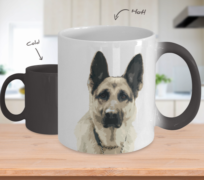 German Shepherd Color Changing Mugs & Coffee Cups - German Shepherd Coffee Mugs - TeeAmazing