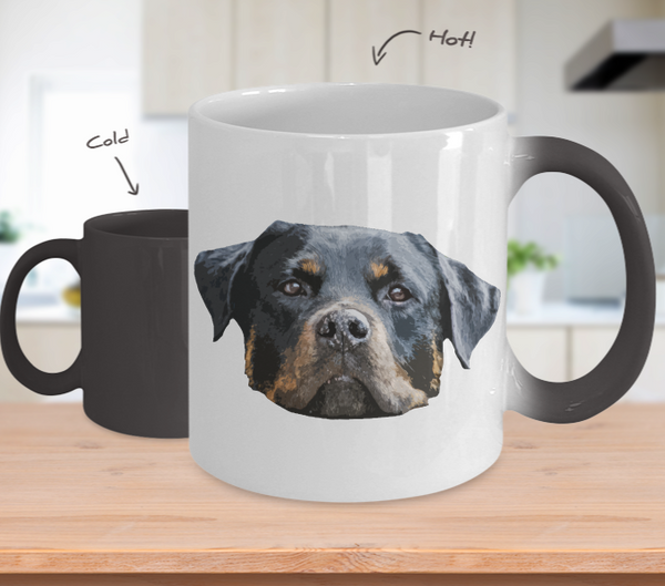 Rottweiler Dog Color Changing Mugs & Coffee Cups - Rottweiler Coffee Mugs - TeeAmazing - 1
