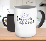 Grandsons Make Life Special Color Changing Mug - Grandma Mug - TeeAmazing