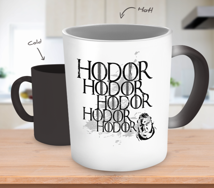 Hodor Color Changing Mugs & Coffee Cups - Game of Thrones Coffee Mugs - TeeAmazing