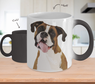 Boxer Color Changing Mugs & Coffee Cups - Boxer Coffee Mugs - TeeAmazing
