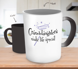Granddaughters Make Life Special Color Changing Mug - Grandma Mug - TeeAmazing