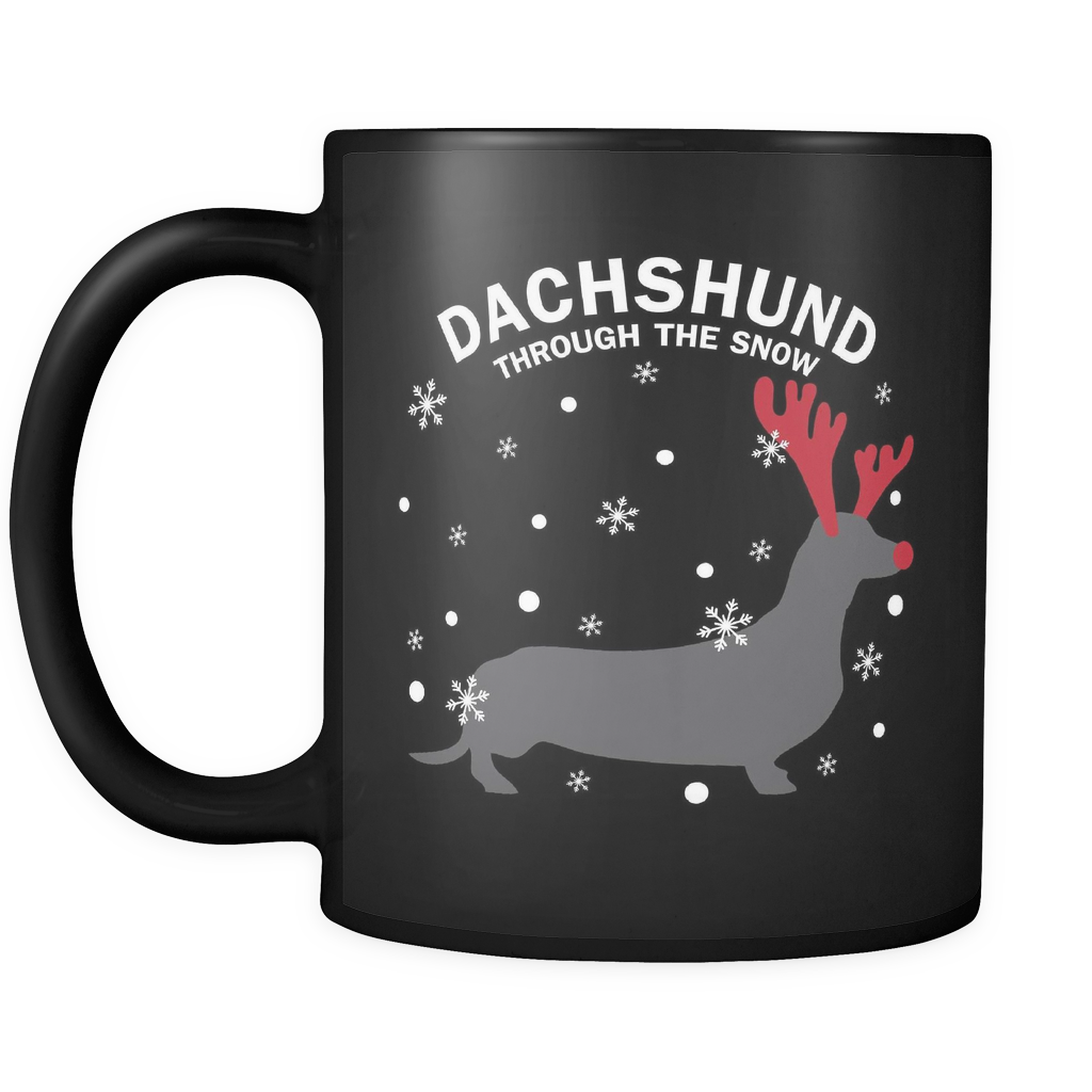 Dachshund The Snow Dog Mugs & Coffee Cups - Dachshund Coffee Mugs - TeeAmazing