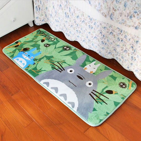 Super Soft Coral Fleece Cartoon Totoro Floor rugs and carpets Area Anti-slip Mat  for living room bed room home decorative - TeeAmazing - 1