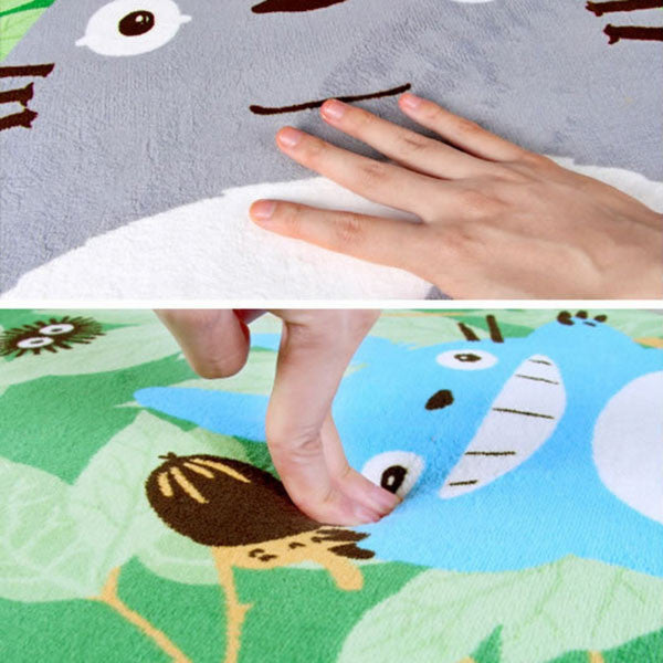 Super Soft Coral Fleece Cartoon Totoro Floor rugs and carpets Area Anti-slip Mat  for living room bed room home decorative - TeeAmazing - 4