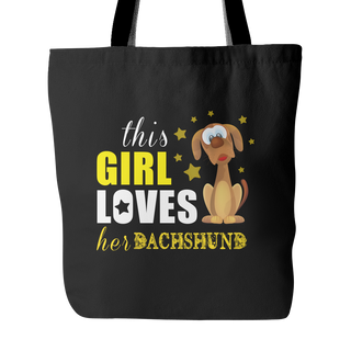 This Girl Love Her Dachshund Dog Tote Bags - Dachshund Bags - TeeAmazing