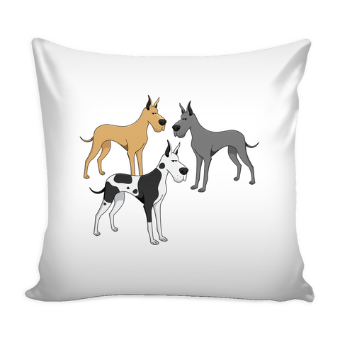 Great Dane Dog Pillow Cover - Great Dane Accessories - TeeAmazing
