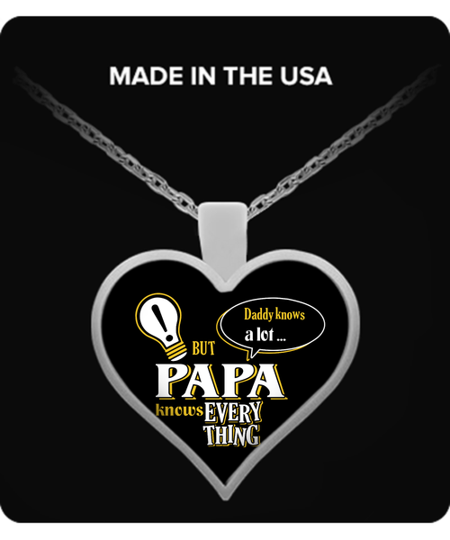 PAPA Knows More Necklace - PAPA Necklace - TeeAmazing - 3