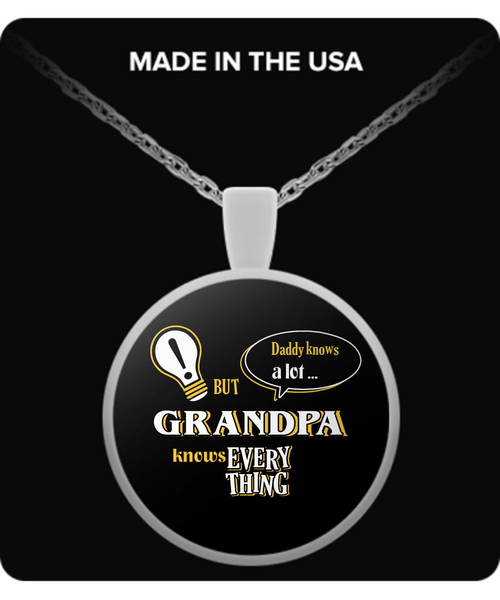 Grandpa Knows More Necklace - Grandpa Necklace - TeeAmazing - 1