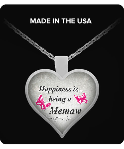Happiness is being a MEMAW Necklace - TeeAmazing - 1