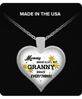 Granny Knows Everything Necklace - Granny Necklace - TeeAmazing