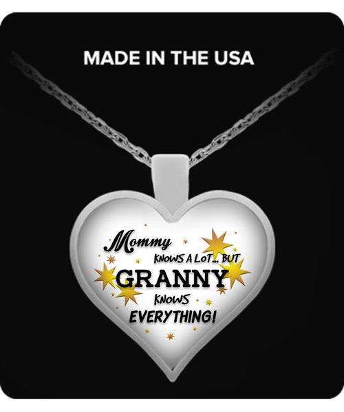 Granny Knows Everything Necklace - Granny Necklace - TeeAmazing - 1