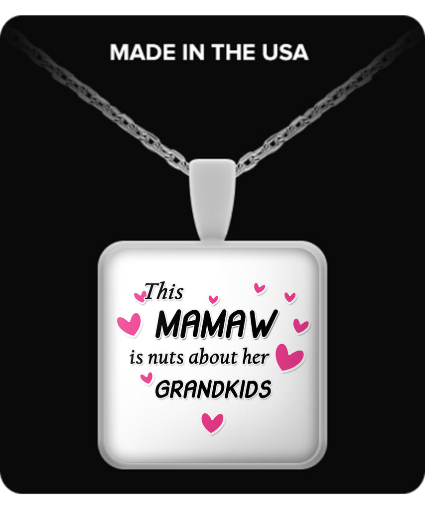 This Mamaw is nuts about her grandkids Necklace - TeeAmazing