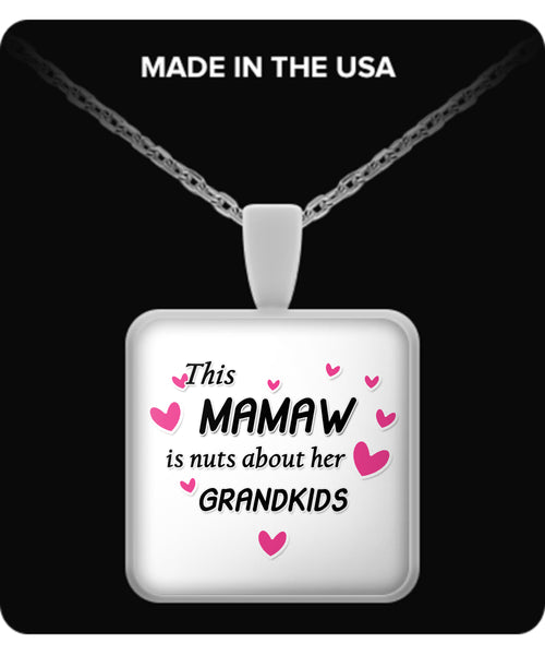This Mamaw is nuts about her grandkids Necklace - TeeAmazing - 3