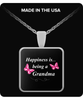 Happiness is being a GRANDMA Necklace - TeeAmazing - 3