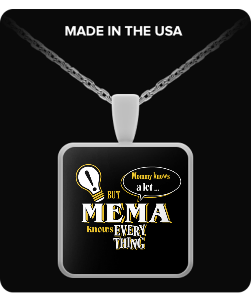 Mema Knows More Necklace - Mema Necklace - TeeAmazing