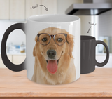 Golden Retriever Dog Color Changing Mugs & Coffee Cups - Golden Retriever Coffee Mugs - TeeAmazing