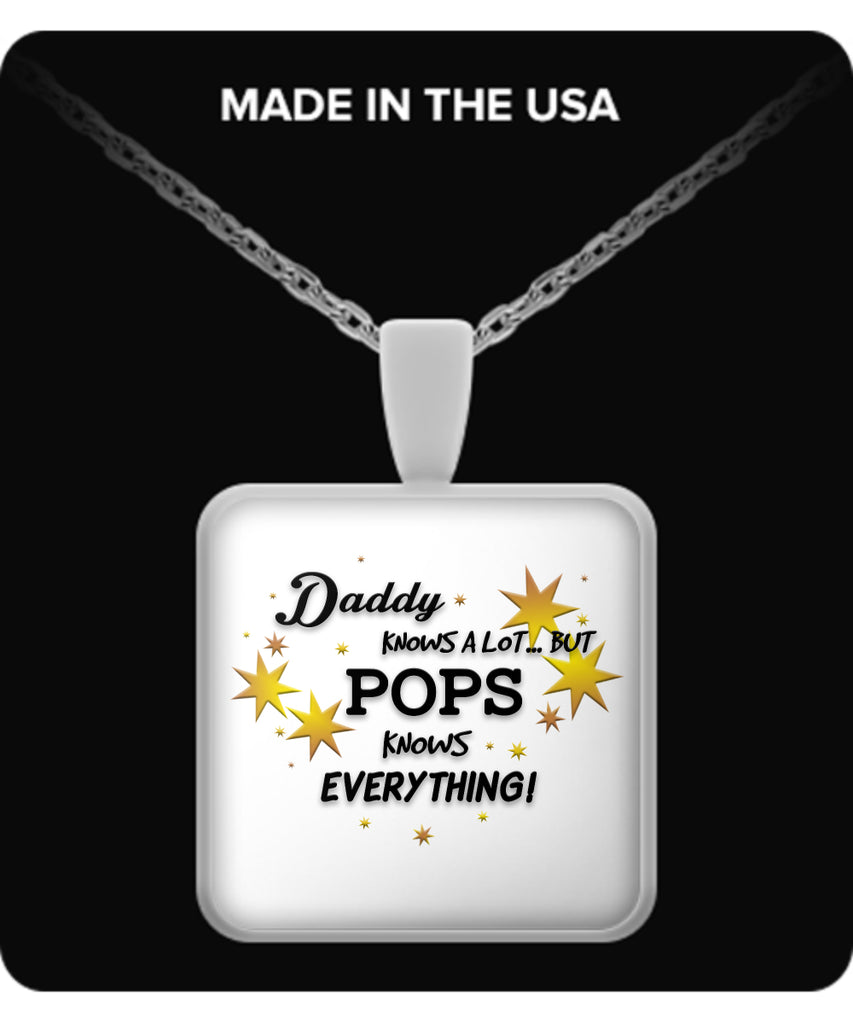 Pops Knows Everything Necklace - Pops Necklace - TeeAmazing